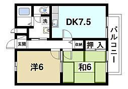 ファミール寺田[2階]の間取り