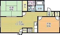 ハイツアカシヤ[2階]の間取り