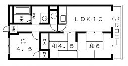メゾンジュール・イマ[4階]の間取り