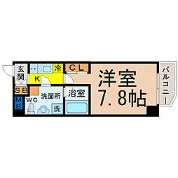 愛知県名古屋市千種区猪高町大字猪子石字山之端の賃貸マンションの間取り