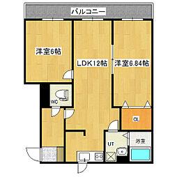 小町川LIVE 1階2LDKの間取り