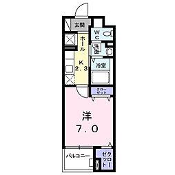 神奈川県大和市林間1丁目の賃貸マンションの間取り