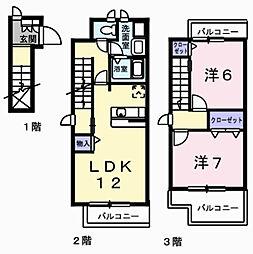 サンハイムII[205号室]の間取り