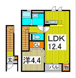 アムールK&MII[2階]の間取り