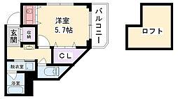 兵庫県西宮市学文殿町1丁目の賃貸マンションの間取り
