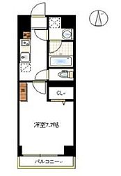 JR宇野線 大元駅 徒歩6分の賃貸マンション 2階1Kの間取り