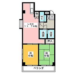 上前津レクティ[5階]の間取り