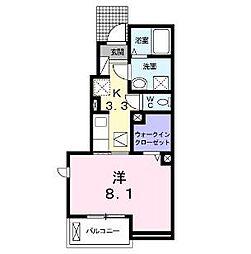 ガーデンハウスII[1階]の間取り