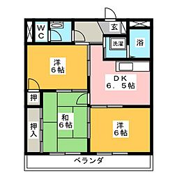 マンションメテオール[3階]の間取り