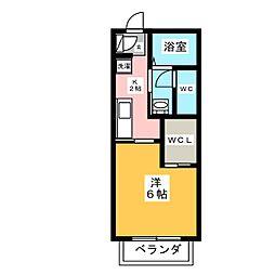 ポワールI[2階]の間取り