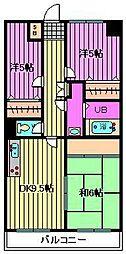 プレステージ大和田[1階]の間取り