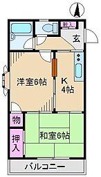 カーサ栄[2階]の間取り