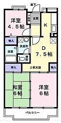 キキョウ第5・三上マンション[3階]の間取り