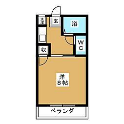 ベルズコートII[1階]の間取り