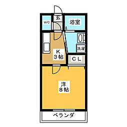 ホープ西可児[2階]の間取り