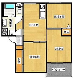 第4ラフィーネ[2階]の間取り