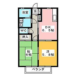 フラワーガーデンII  A[1階]の間取り