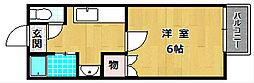 フラッツヤナセ[1階]の間取り