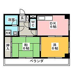 シャトー三番館[1階]の間取り