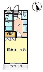 コーポ彩舞蘭[102号室]の間取り
