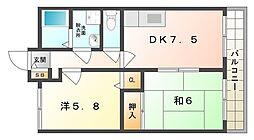 ベルヴィルC[1階]の間取り