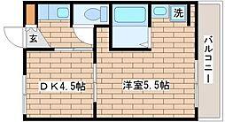 兵庫県神戸市長田区雲雀ケ丘3の賃貸マンションの間取り