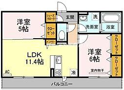 (仮)D-room一宮[3階]の間取り