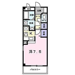 コンフォート[0203号室]の間取り