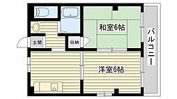 第6渡部ビル[203号室]の間取り