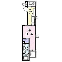 アンジュ・東本町[0301号室]の間取り