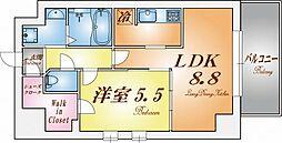 S-RESIDENCE神戸磯上通[5階]の間取り