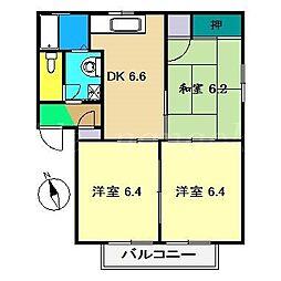 メゾンエトワールB棟[2階]の間取り