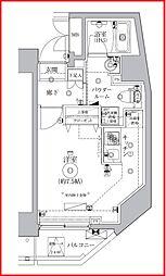 レアライズ浅草IV 3階ワンルームの間取り