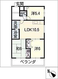 エスポワールK[3階]の間取り