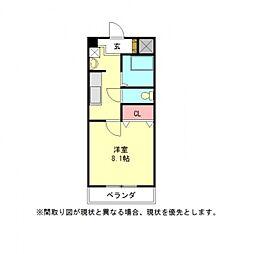 愛知県一宮市栄4丁目の賃貸マンションの間取り