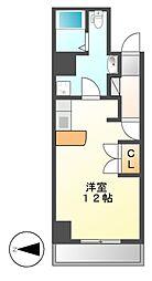 愛知県名古屋市中区栄1の賃貸マンションの間取り
