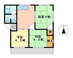 愛知県名古屋市瑞穂区姫宮町2丁目の賃貸マンションの間取り