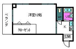 田中里ビル[301号室]の間取り