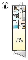 エルスタンザ徳川[11階]の間取り