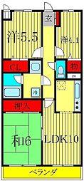 ライオンズマンション三郷第3[1階]の間取り