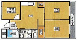 ラフェンテ塚本[303号室]の間取り