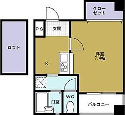 パルS[7階]の間取り
