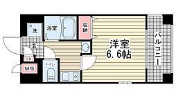 エステムコート新神戸エリタージュ[902号室]の間取り