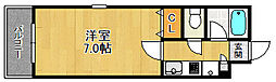 K'S室見駅アヴェニュー[2階]の間取り