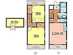 [テラスハウス] 愛知県安城市浜屋町南屋敷 の賃貸【愛知県 / 安城市】の間取り