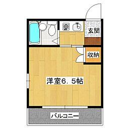 西ノ京ハイツ[301号室]の間取り