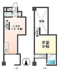 クレイタスパークIV[1階]の間取り