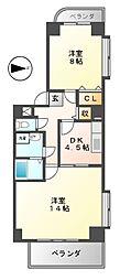 第3タジックビル[12階]の間取り