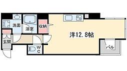 Osaka Metro谷町線 東梅田駅 徒歩9分の賃貸マンション 9階ワンルームの間取り