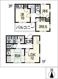 [一戸建] 三重県四日市市桜花台1丁目 の賃貸【/】の間取り